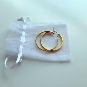 Jcrew gold hoop earrings